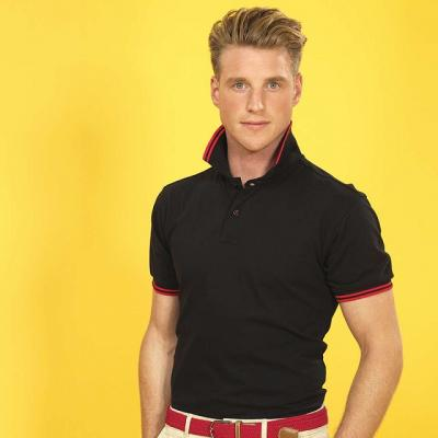 MEN'S CLASSIC FIT TIPPED POLO 1.